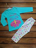 """Пижама """"Бабочка"""" мятная размер 1 год"""