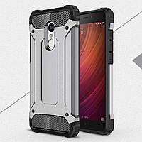 Чехол накладка TPU Immortal Armor для Xiaomi Redmi Note 4 серый