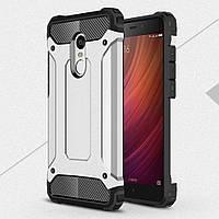 Чехол накладка TPU Immortal Armor для Xiaomi Redmi Note 4 серебристый