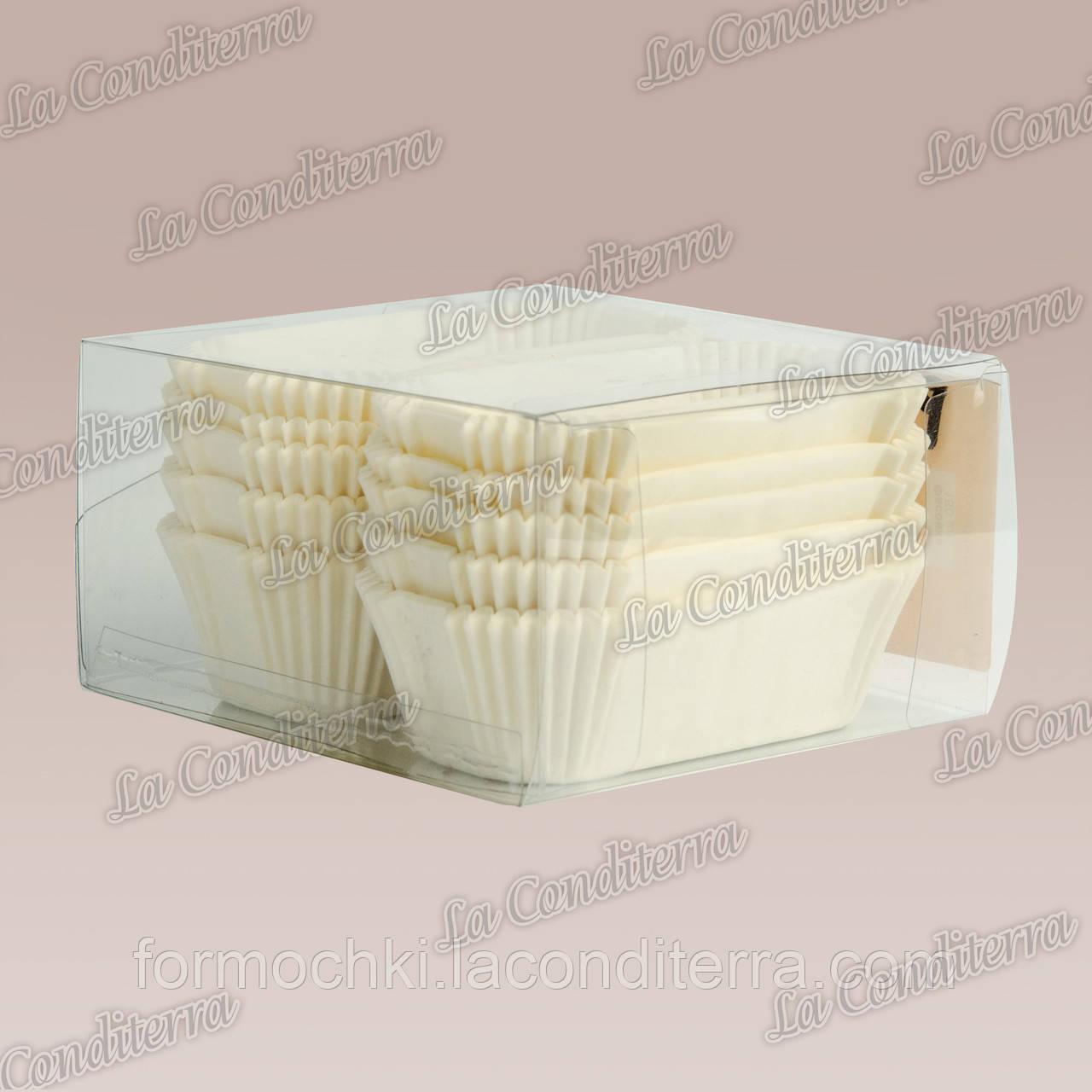 Форми для кексів Р8-ПУ (розмір дна - 80x35 мм), білі, 150 шт.
