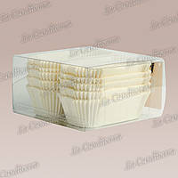 Формы для кексов Р8-ПУ (размер дна - 80x35 мм), белые, 150 шт.