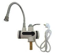 Проточный водонагреватель электрический на кран LCD бойлер гибкий гусак