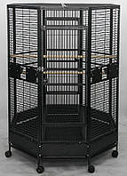 Вольер для средних и крупных попугаев 132х132х185 см