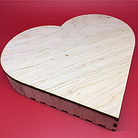 Шкатулка-заготовка из фанеры. Сердце 21,5х20