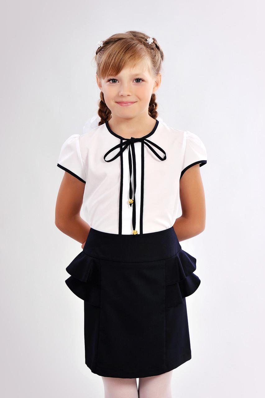 ca5cdbd23ab Красивая школьная блузка для девочки с завязками