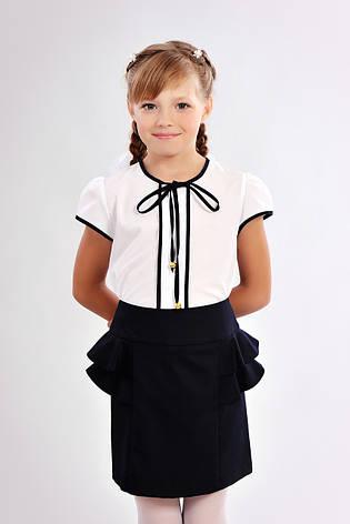 11628287fcb Красивая школьная блузка для девочки с завязками  продажа