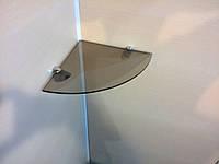 Полка стеклянная угловая 5 мм бронзовая 25 х 25 см, фото 1