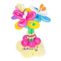 """Букет цветов из шаров """"Декоративные лилии"""""""