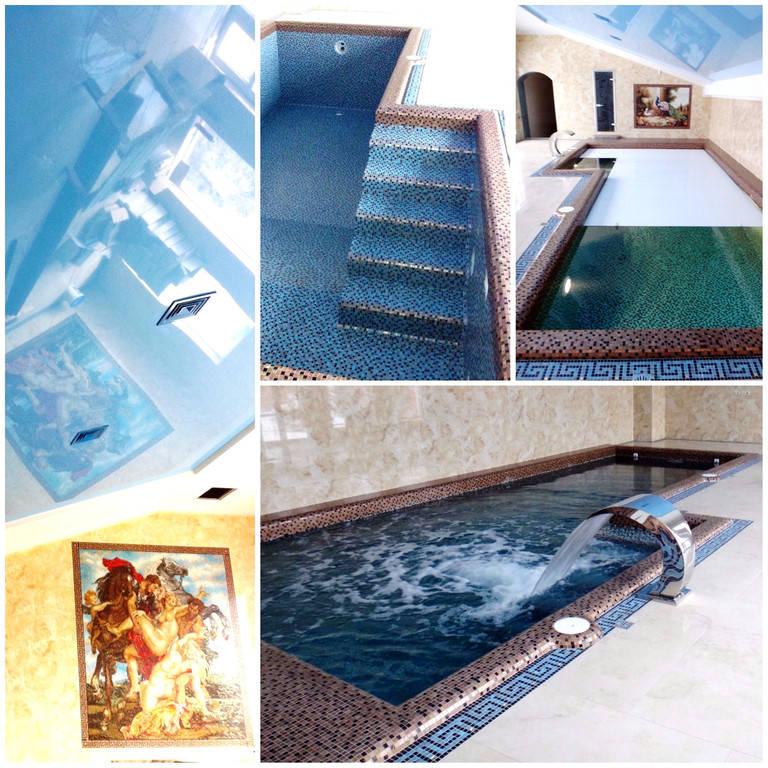 Плавательный внутренний бассейн для частного использования