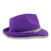 Шляпа Твист атласная (фиолетовая)