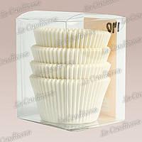 Белые формы для кексов 120-ПУ (Ø50, h - 35 мм), 200 шт.