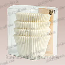 Білі форми для кексів 120-ПУ (Ш 50, h - 35 мм), 200 шт.