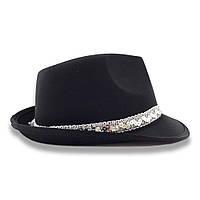 Шляпа Твист атласная (черная)