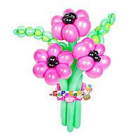 """Букет цветов из шаров """"Розовые маки"""""""