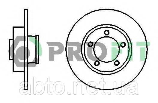 Тормозной диск задний (PROFIT) OPEL, NISSAN, RENAULT