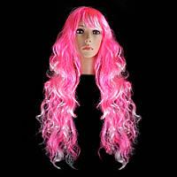 Парик Барби 80см (розовый)