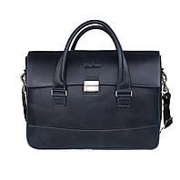 Кожаный мужской портфель-сумка Issa Hara