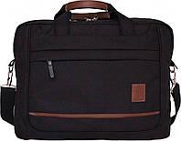 Сумка для ноутбука Bagland Сумка под ноутбук с кожзамом 12 л. Чёрный (0044366)