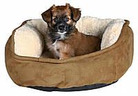 Лежак Trixie Otello плюш и полиэстер, бежево-коричневый, 60 см, фото 1