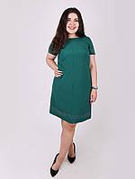 Платье большого размера со стразами - 1058