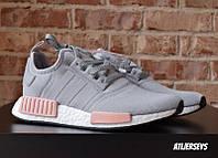 Кроссовки Adidas NMD V1 Grey-Pink 36-40 рр.