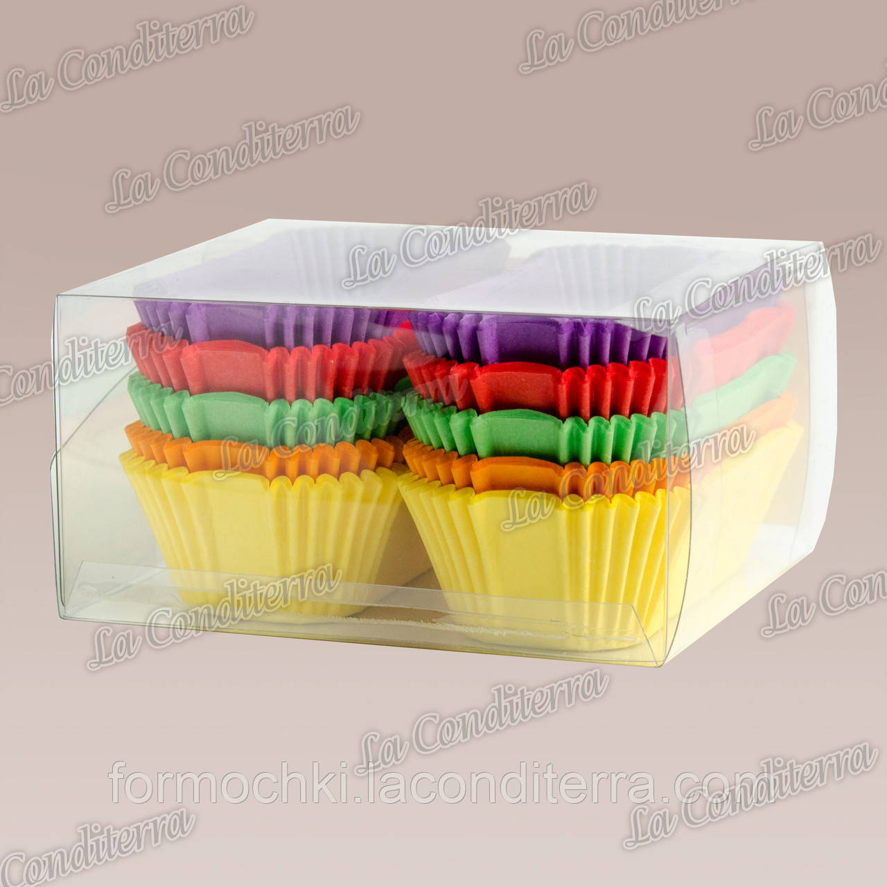 Паперові форми для тістечок і еклерів Р8-ПУ (80x35 мм), мікс-1,150 шт.