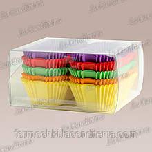 Бумажные формы для пирожных и эклеров Р8-ПУ (80x35 мм), микс-1,150 шт.