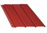 Панель софит красный Бриза / Bryza 4 м , 1,22 м2 сплошной/ с перфорацией Польша