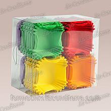 Формы для кексов квадратные К-40 ПУ (размер дна - 4х4 см), микс-1, 400 шт.