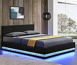 Кровать с подьемным механизмом TOU 140х200 см. с LED подсветкой, фото 2
