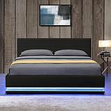 Кровать с подьемным механизмом TOU 140х200 см. с LED подсветкой, фото 5