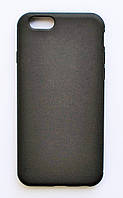 Чехол на Айфон 6/6s Матовый Силикон толщиной 0.5 мм Черный