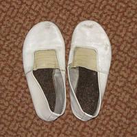Чешки кожаные белые теплая стелька 19 см