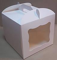 Коробка для торта 23х23х21 см (мелованный картон)