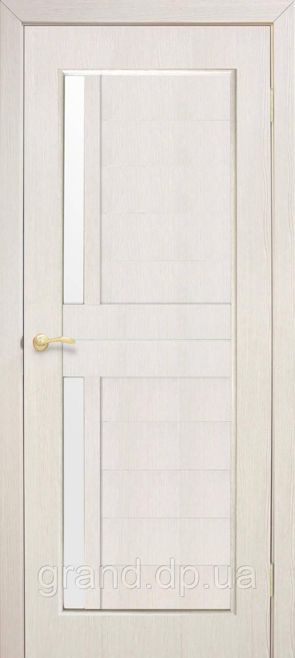 """Дверь межкомнатная  """"Амелия экошпон"""" остекленная, цвет сосна сицилия"""