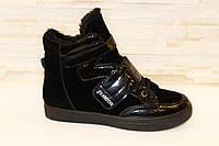 Ботинки женские зимние черные липучка С360 р 36 37 38