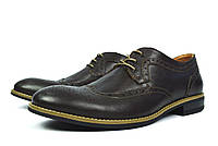 Коричневые мужские кожаные туфли - броги WRIGHT
