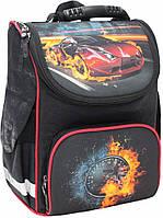 Рюкзак школьный каркасный Bagland Успех 12 л. Черный (машина 23) (00551702)