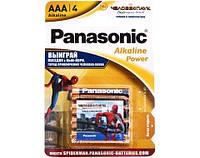 Батарейка Panasonic Alkaline Power LR03 BLI 4 (Spider Man)