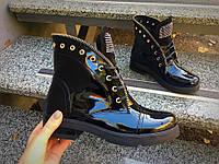 Демисезонные ботинки в стиле Bai)ain лаковые