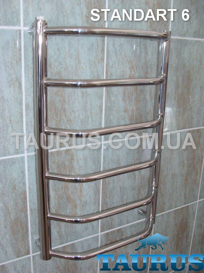 Полотенцесушилка средний размер для ванной комнаты Standart  6/ 650х500 мм.