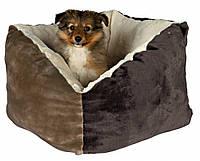 Лежак Trixie Gordie плюш и полиэстер, коричнево-бежевый, 42х42 см, фото 1