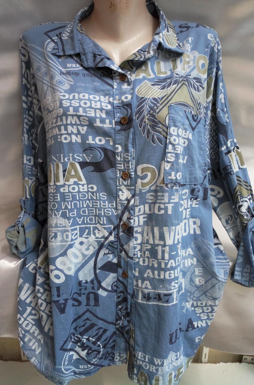 Рубашка с надписями женская батальная California, фото 1