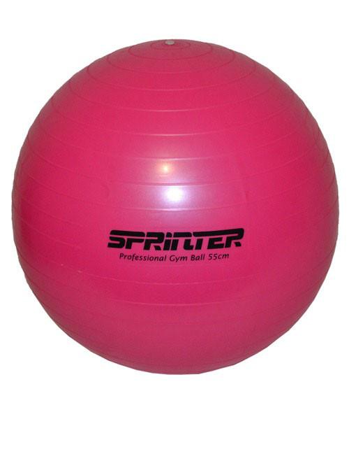 """Мяч для фитнеса """"GYM BALL"""" розовый. Диаметр 55 см."""