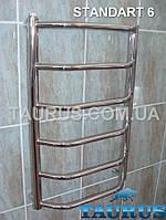 Полотенцесушитель узкий для ванной комнаты Standart 6 ширина 400 мм.