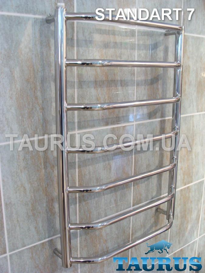 Стильная сушка для полотенец Standart 7/750х450 мм. Гнутая форма трапеции перемычек d20. ТАУРУС