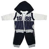 Костюм для мальчика 74-86 кофта+штаны+жилет арт.5143