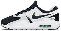 Мужские кроссовки Nike Air Max Zero QS (Найк Аир Макс Зеро) белые с синим