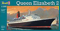 Круизное судно (1969г., Великобритания) Queen Elizabeth II, 1:1200, Revell
