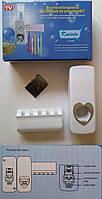 Автоматический дозатор для зубной пасты с держателем для щеток, фото 1